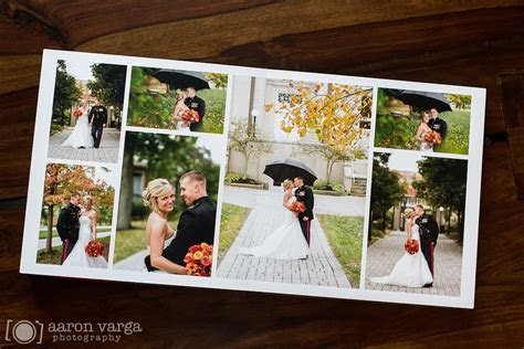 Brown and Red Leather Flush Mount Wedding Album