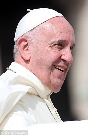Pope Francis (pictured in St. Peter's Square, Vatican City, yesterday) is set to discuss plans for Roman Catholic priests to give a blessing to gay couples