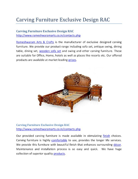 Carving Furniture Exclusive Design RAC