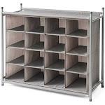 Neatfreak 16-Compartment Shoe Organizer, Grey