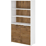 Bush Business Furniture Jamestown 5 Shelf Bookcase with Doors