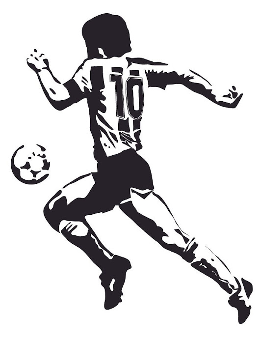 Image: Wall Stickers. MARADONA 3 sizes and REAL SIZE various colors