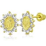 Virgin Mary Stud Earrings