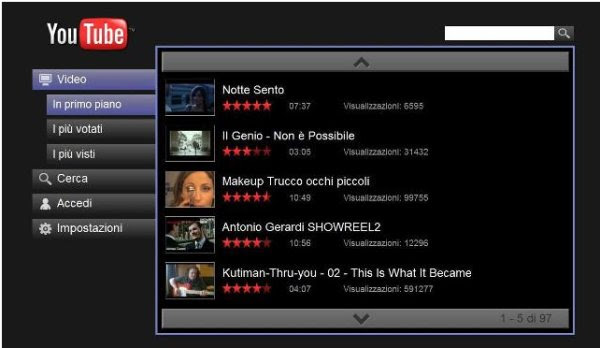 Youtube funzione nascosta, guardare video a pieno schermo stile media center