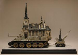 Церковь-танк: скульптура Криса Кукзи