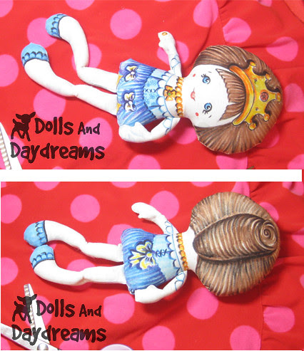 Pocket Princess Doll Hand Painted Fabric Markers Crayola 2