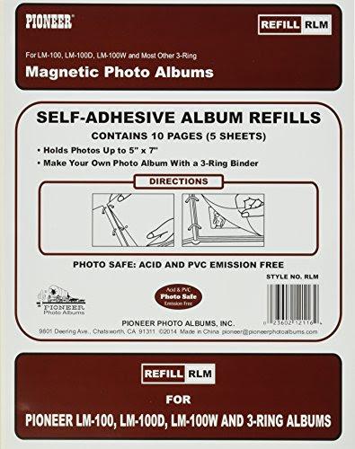 Pioneer Photo Albums Magnetic Self Stick 3 Ring Photo Album 100