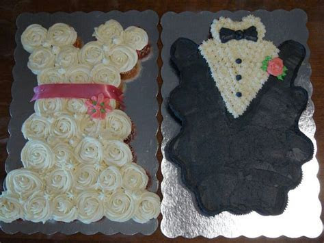 co ed bridal shower. bride groom cupcake cakes!   Bridal