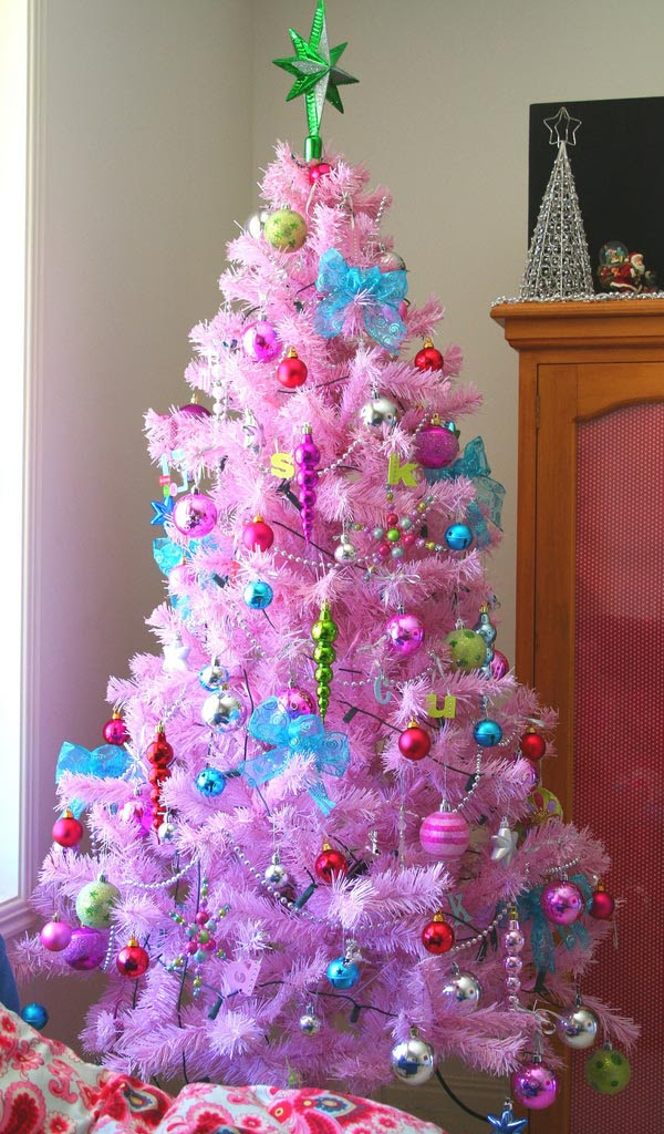 Christmas Tree Decorations Pink Holliday Decorations