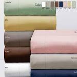 Elle 1000 Thread Count Cotton Rich Pinstripe Sheet Set - Full Chocolate