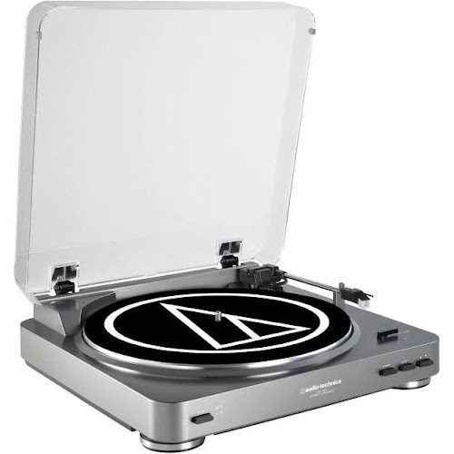 Audio Technica ATLP60 Fully Automatic Stereo Belt Drive Turntable, Silver