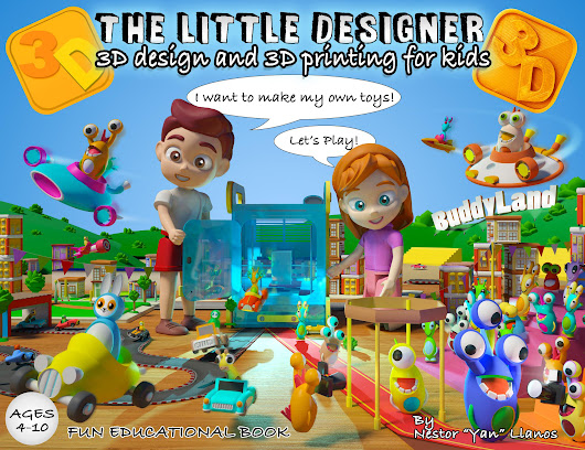 The Little Designer: Interactive Book Teaches Kids About 3D Design and 3D Printing
