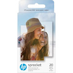 "HP - Sprocket ZINK Photo 2"" x 3"" 20-Count Paper - Gloss Finish"