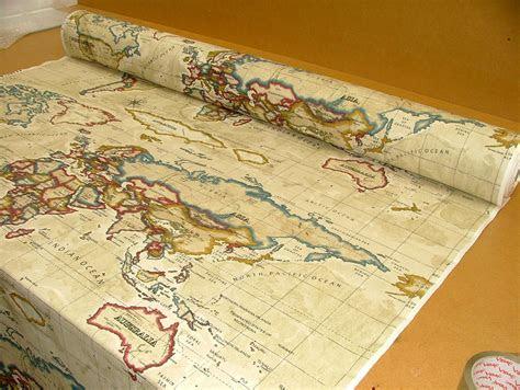 map fabric maps  world map fabric  pinterest