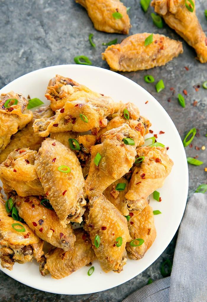 Baked Salt and Pepper Wings - Kirbie's Cravings