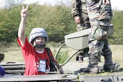 Viaje en un tanque de guerra