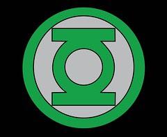 Plantilla de emblema de Linterna Verde.
