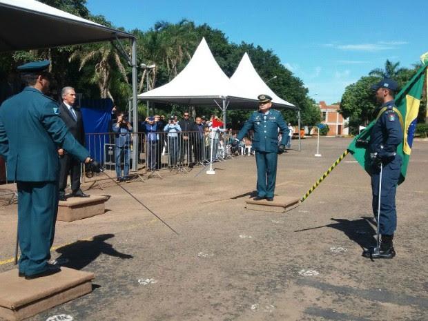 Passagem de comando PM de Mato Grosso do Sul (Foto: Gabriela Pavão/ G1 MS)