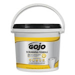 Gojo Scrubbing Wipes, 170 Sheets 639802 Pack of 2