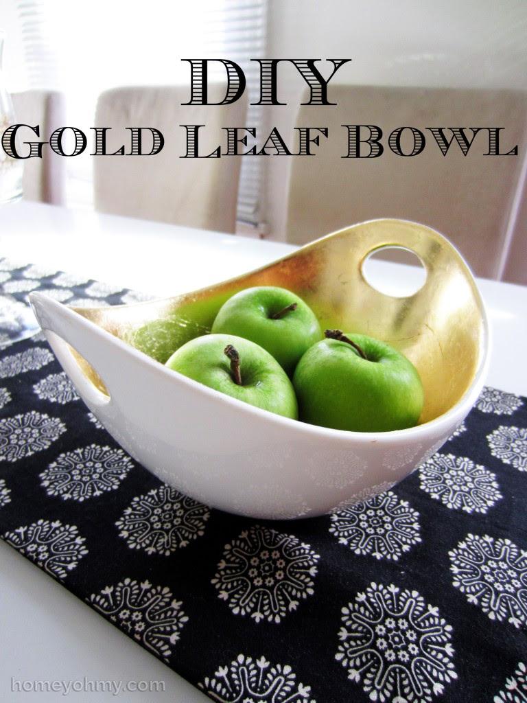 DIY Gold Leaf Bowl