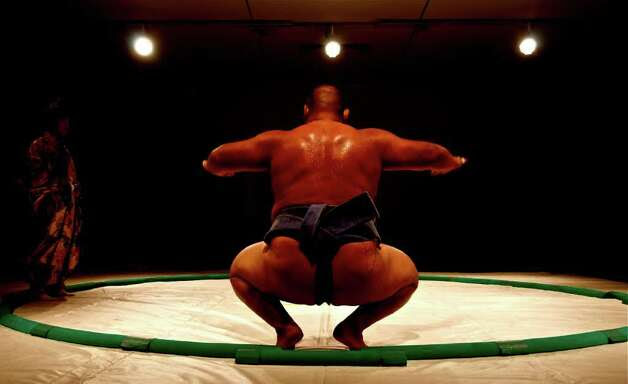 Sumo wrestlers were featured at this years Men of Menil event Photo: Pete Holley / HC