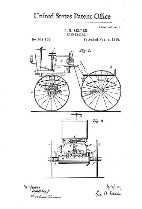 Road Engine Patent – Patent Print, Wall Decor, Automobile