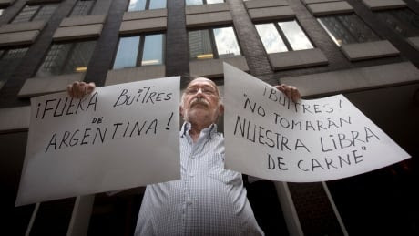 Argentina debt crisis protester New York