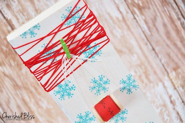 Kid's Wish List and Wooden Spool Ornament via Cherishedbliss.com // #Christmas #Ornament