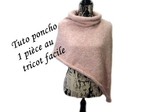 les tutos de fadinou tuto poncho au tricot 1 piece sans couture. Black Bedroom Furniture Sets. Home Design Ideas