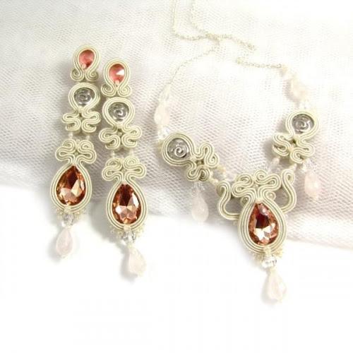 Pastelova biżuteria ślubna