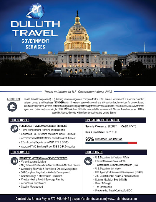 Government Travel Solutions- Duluth Travel