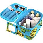 Zodaca Lightweight Makeup Travel Cosmetic Bag Case Multifunction Pouch Toiletry Zip Wash Organizer - Pineapple