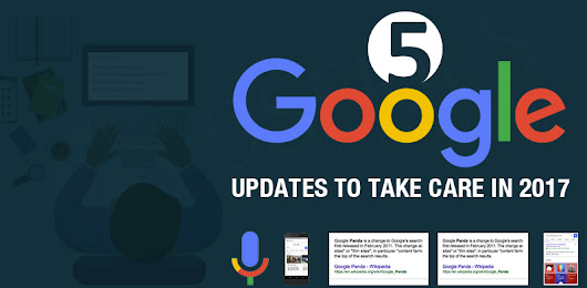 5 Google updates to Take care in 2017