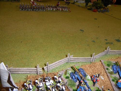 British centre advancing into the guns