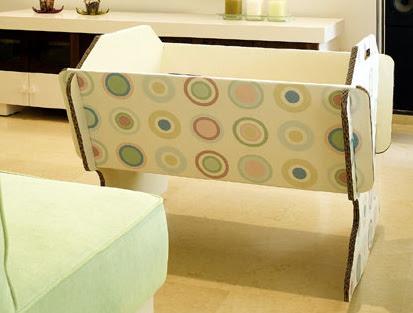 diseño, decoracion, muebles, carton, cuna