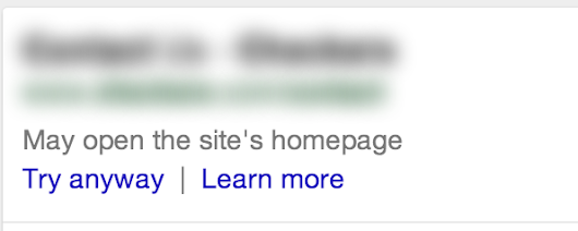 """May open the site's homepage"" - Search Help"