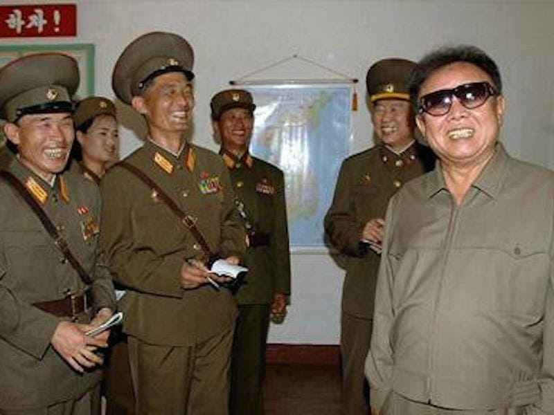 The late Kim Jong Il's annual cognac expense was 800 times the average North Korean's annual income.