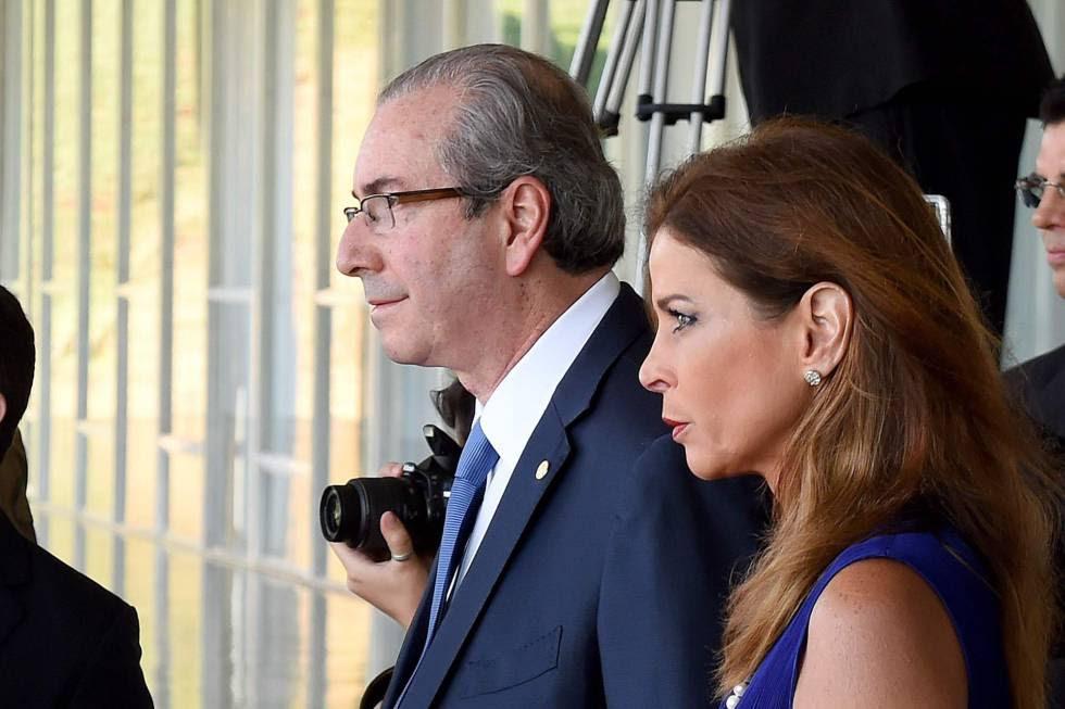 Eduardo Cunha e a esposa Claudia Cruz na mira da Lava Jato.
