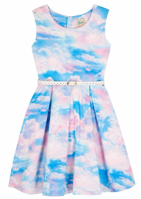 Yumi Girls Girls Cloud Print Day Dress at House of Fraser