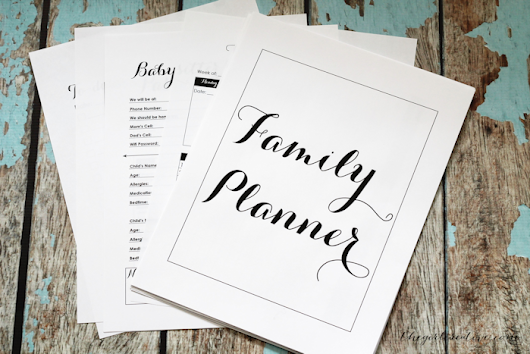 Free Printable Family Planner - The Girl Creative
