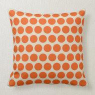 Summer Orange Dots Pillow throwpillow