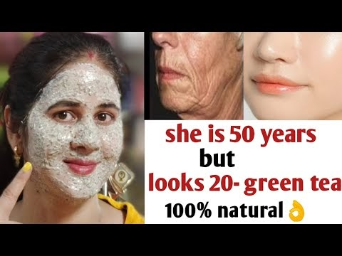 She is 50 but looks 30 with anti aging green tea face pack