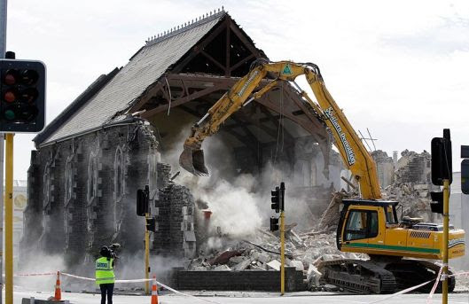 Something to Avoid: Churches can fall into a spiral now that results in the bulldozer later. (photo credit: Wikimedia Commons)