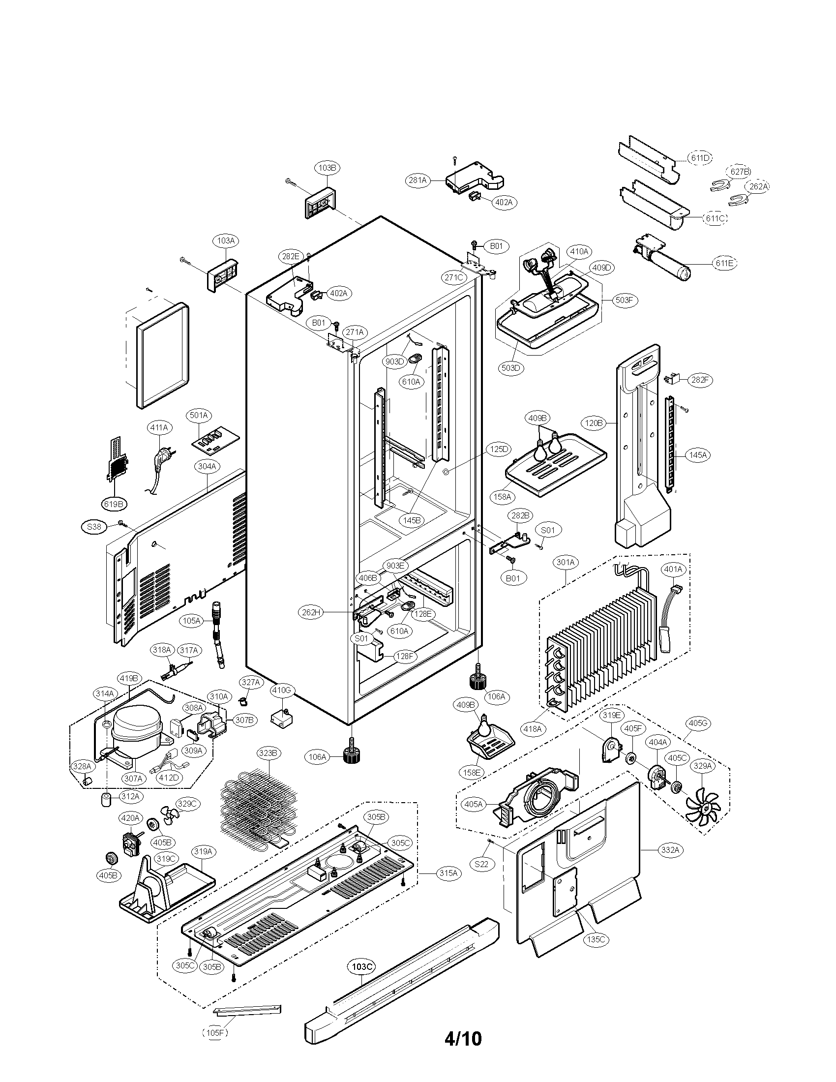 33 Kenmore Elite Refrigerator Parts Diagram