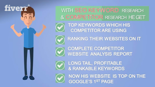 seoexpert6 : I will do SEO keyword research and competitor research for $10 on www.fiverr.com