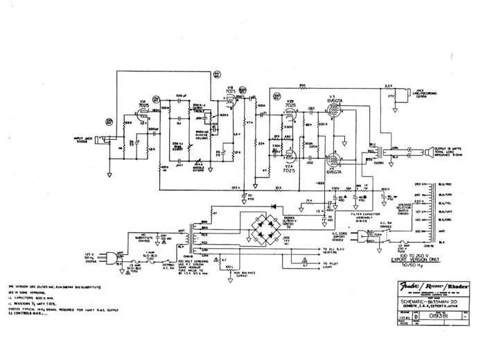 fender bassman schematic