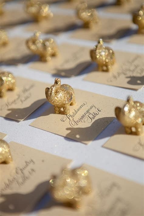 Gold #elephant #escortcards AMAZE   Escort Cards