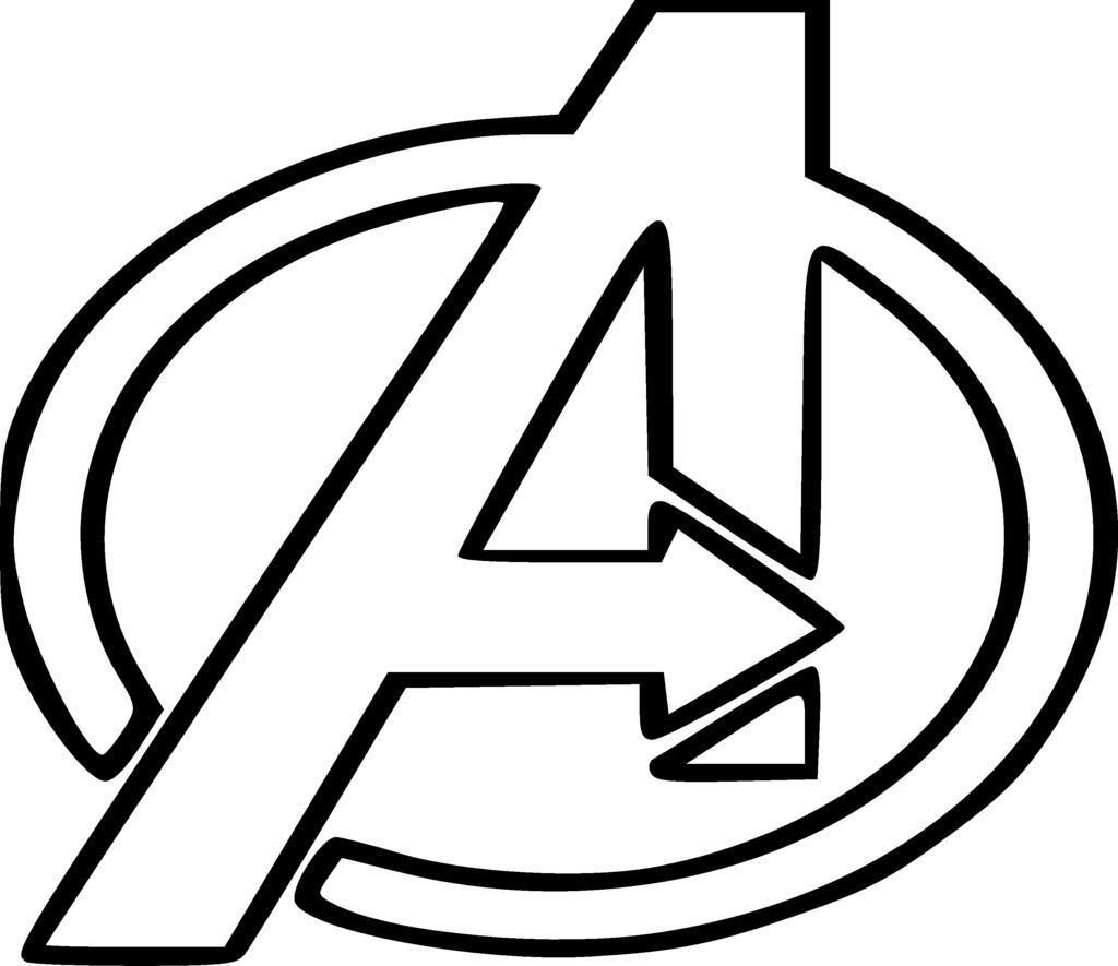 Download Avengers Logo Coloring Pages at GetColorings.com | Free printable colorings pages to print and color