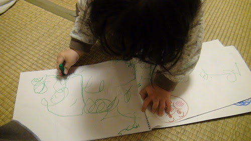 Miyu likes drawing