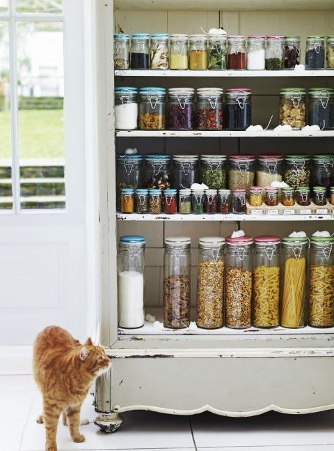 An old china hutch could become a pretty painted pantry.